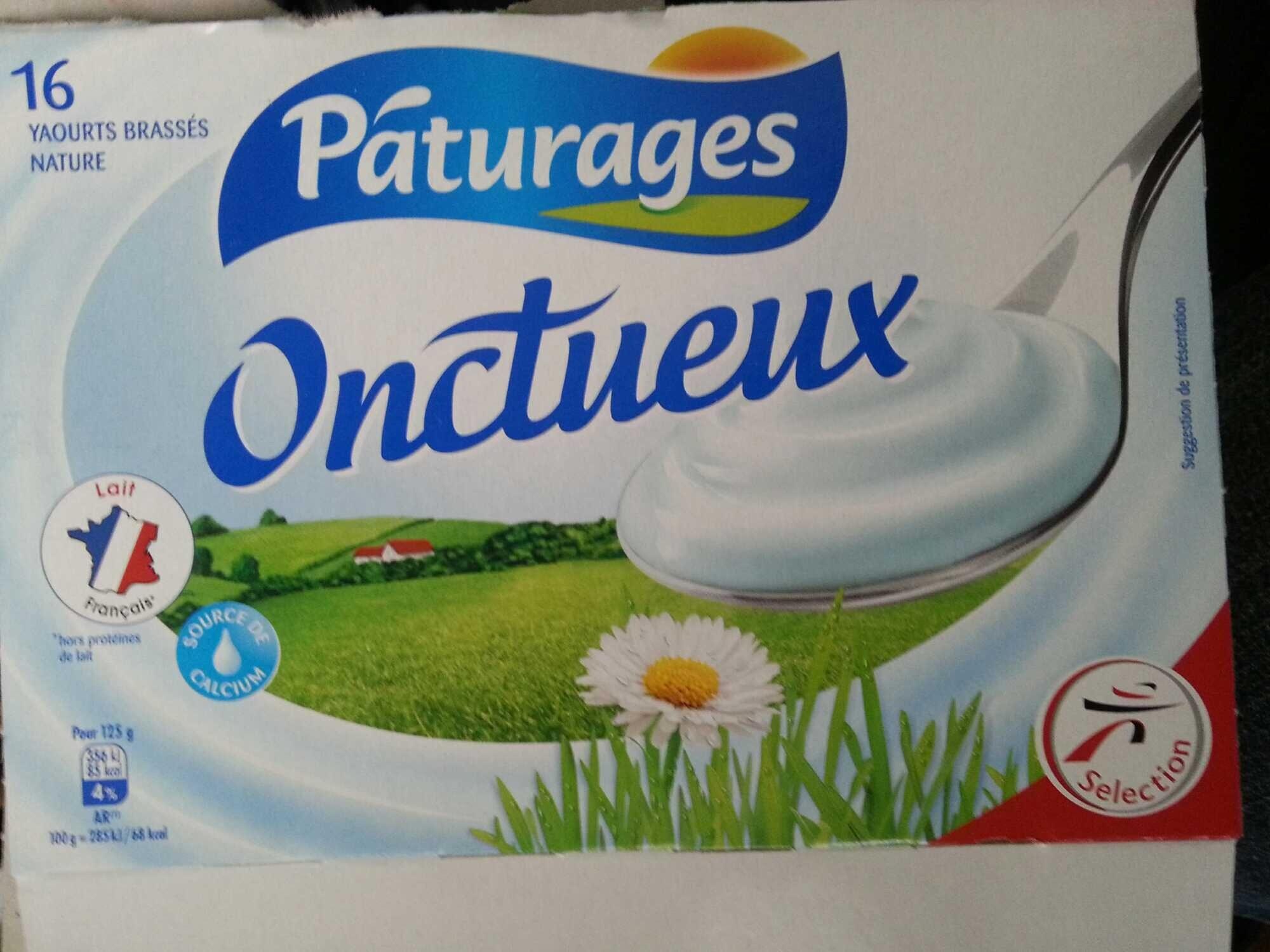 Onctueux - 16 Yaourts brassés nature - Produit - fr