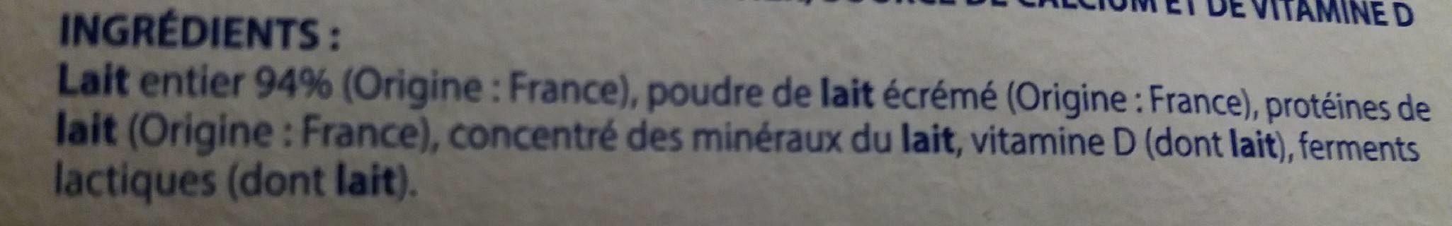 Onctueux - 16 Yaourts brassés nature - Ingrédients - fr