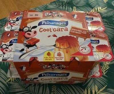 , Dessert Cool'Cara vanille nappe caramel, les 12 pots de 100 g - Produit