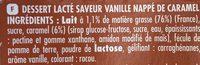 , Dessert Cool'Cara vanille nappe caramel, les 12 pots de 100 g - Ingrédients - fr