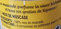 Cigalou Noix MUSC.ENT.20G la - Nutrition facts - fr