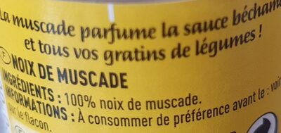 Cigalou Noix MUSC.ENT.20G la - Informations nutritionnelles - fr
