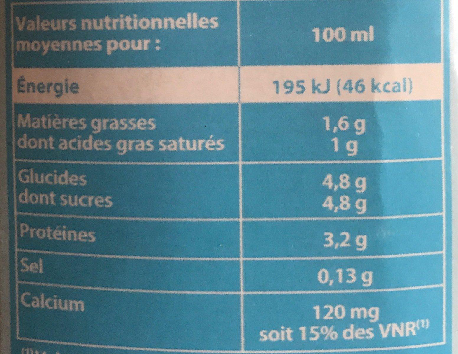 Lait Demi Ecrémé Pâturages - Ingredients - fr