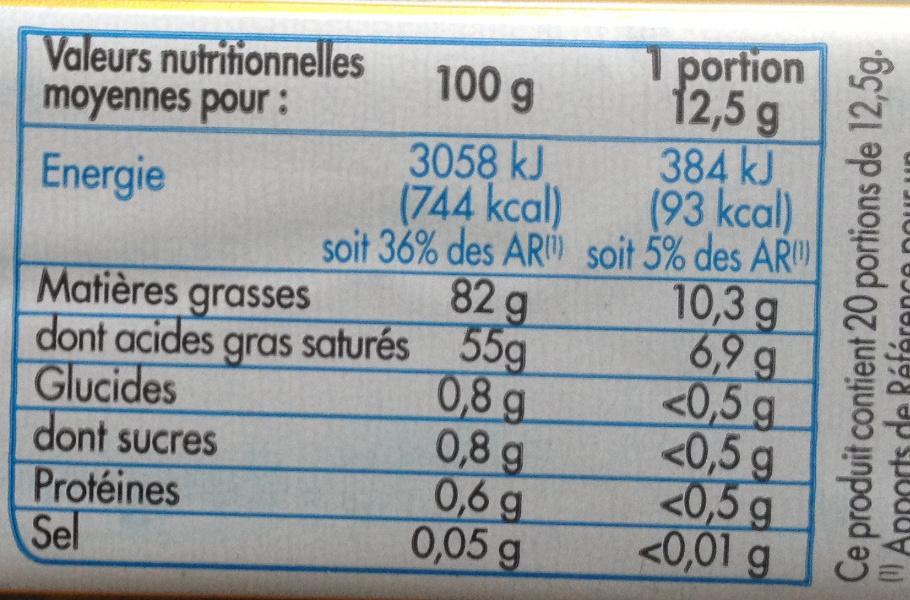 Beurre gastronomique doux (82% MG) -