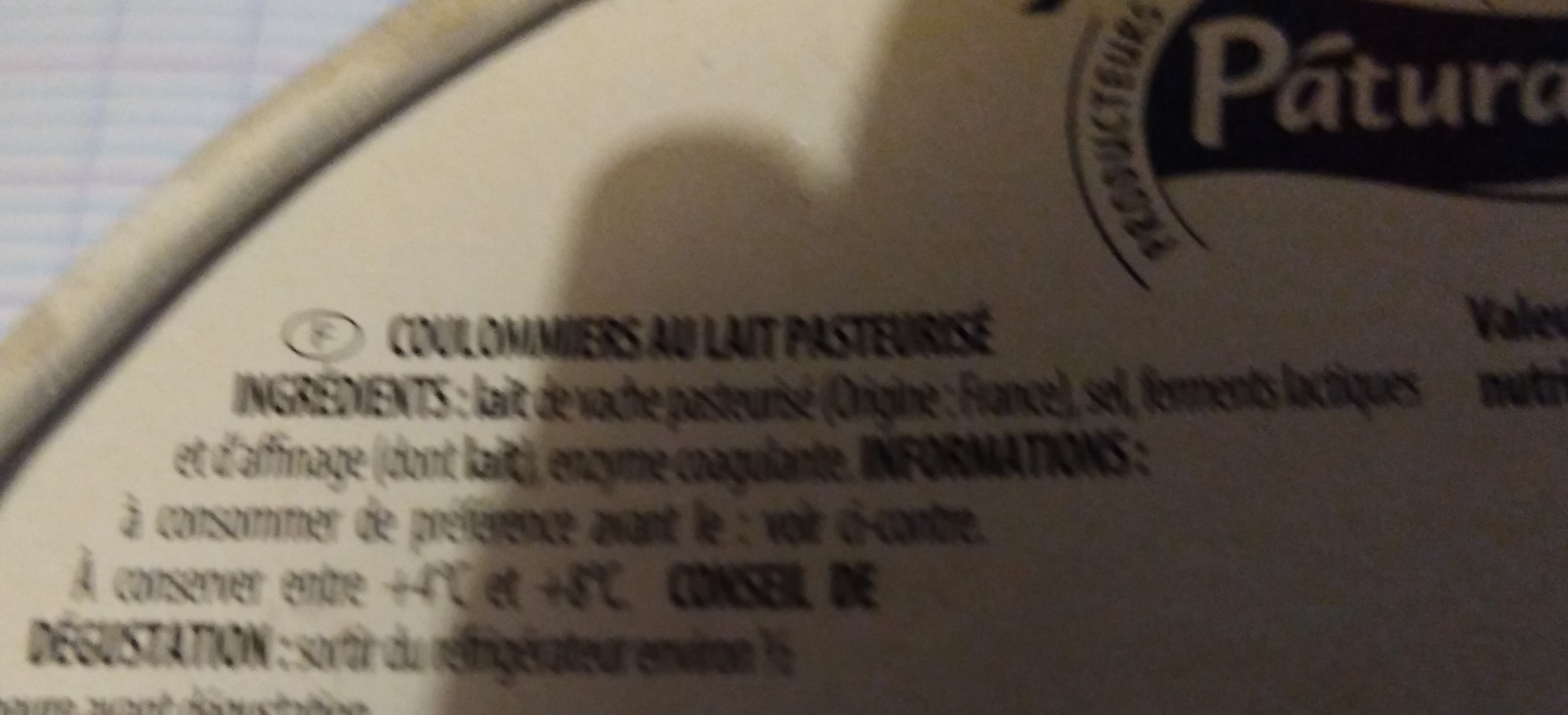 Coulommiers (23 % MG) - Ingrédients - fr