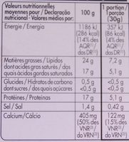 Coulommiers (23 % MG) - Informations nutritionnelles - fr