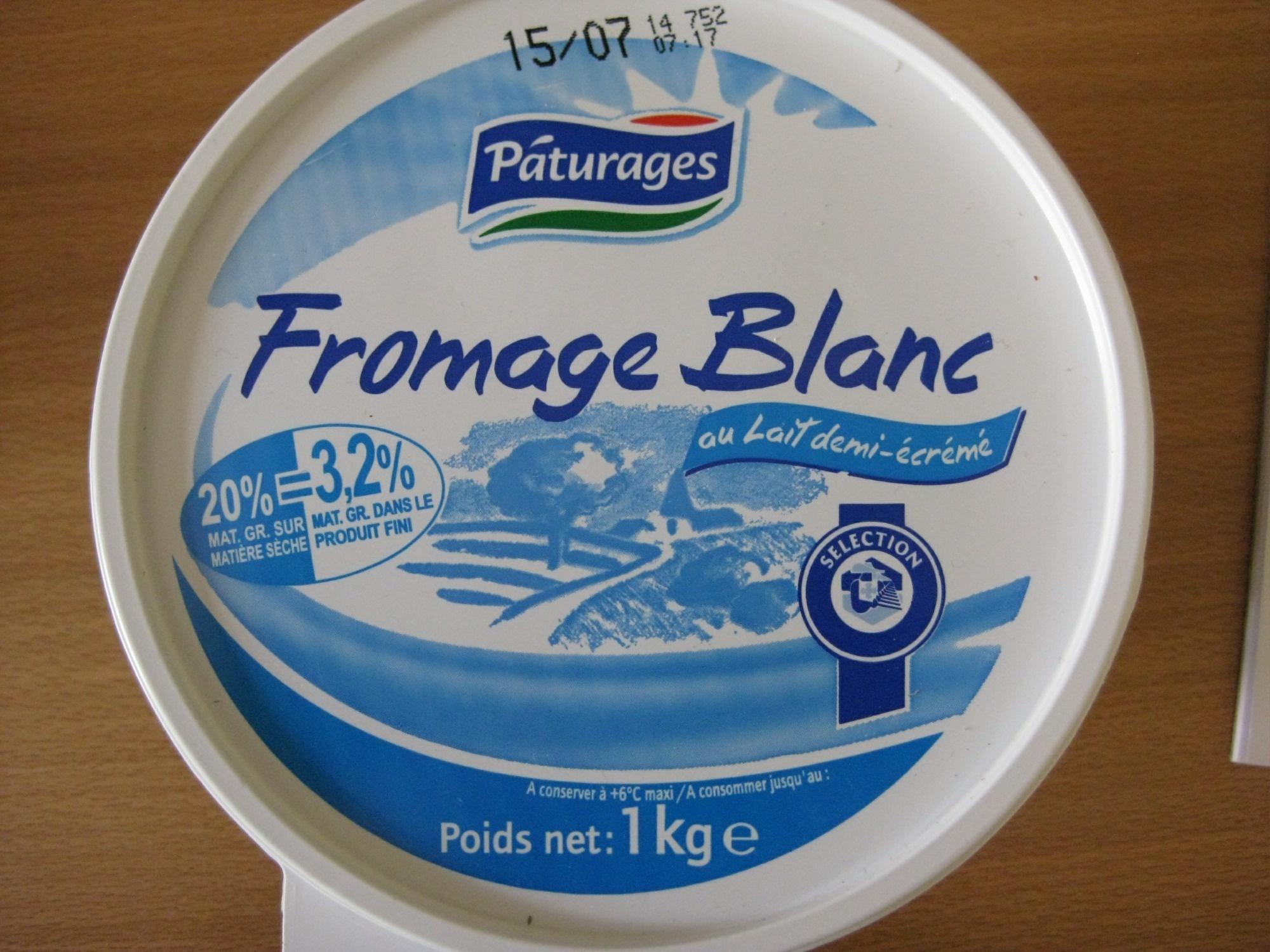 Fromage Blanc au lait demi-écrémé - Produit