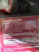 Quatre Quarts Pur Beurre - Ingrédients - fr
