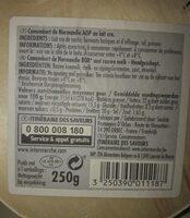 Camembert de Normandie AOP au lait cru - Nutrition facts - fr
