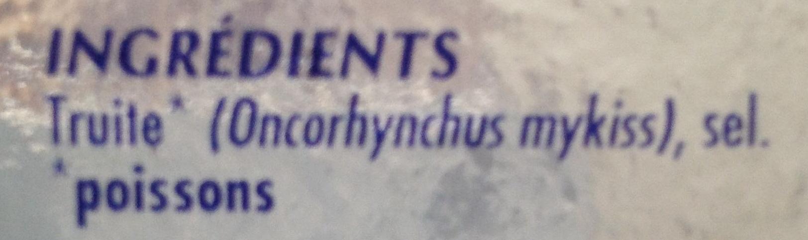 Truite fumée - Ingredients