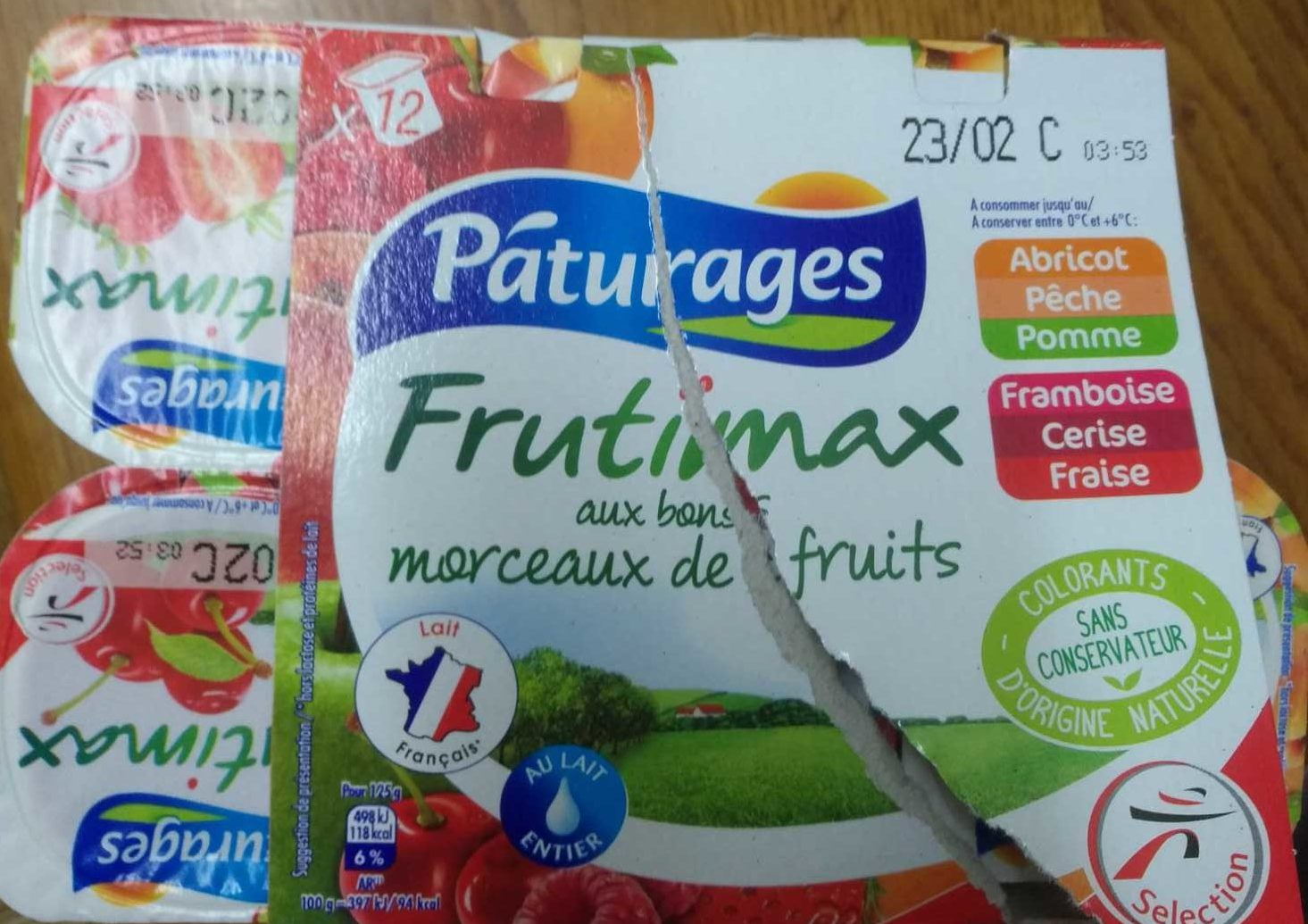 Yaourt Aux Fruits 12 x 125 g - Frutimax - Produit - fr