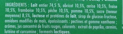 Yaourt Aux Fruits 12 x 125 g - Frutimax - Ingrédients - fr