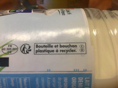 Lait frais demi-écrémé - Instruction de recyclage et/ou informations d'emballage - fr