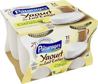Yaourt au lait entier saveur citron - Product - fr