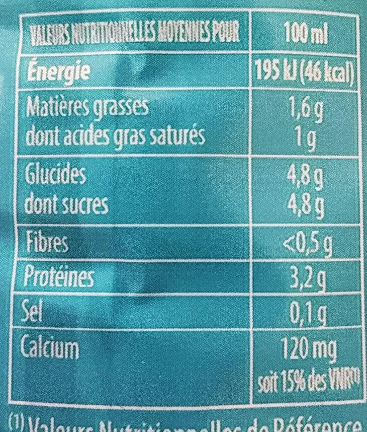 Lait Demi Ecrémé Pâturages - Nutrition facts - fr