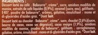 8 Liégeois Pâturages: 4 Chocolat, 4 café - Ingredients - fr