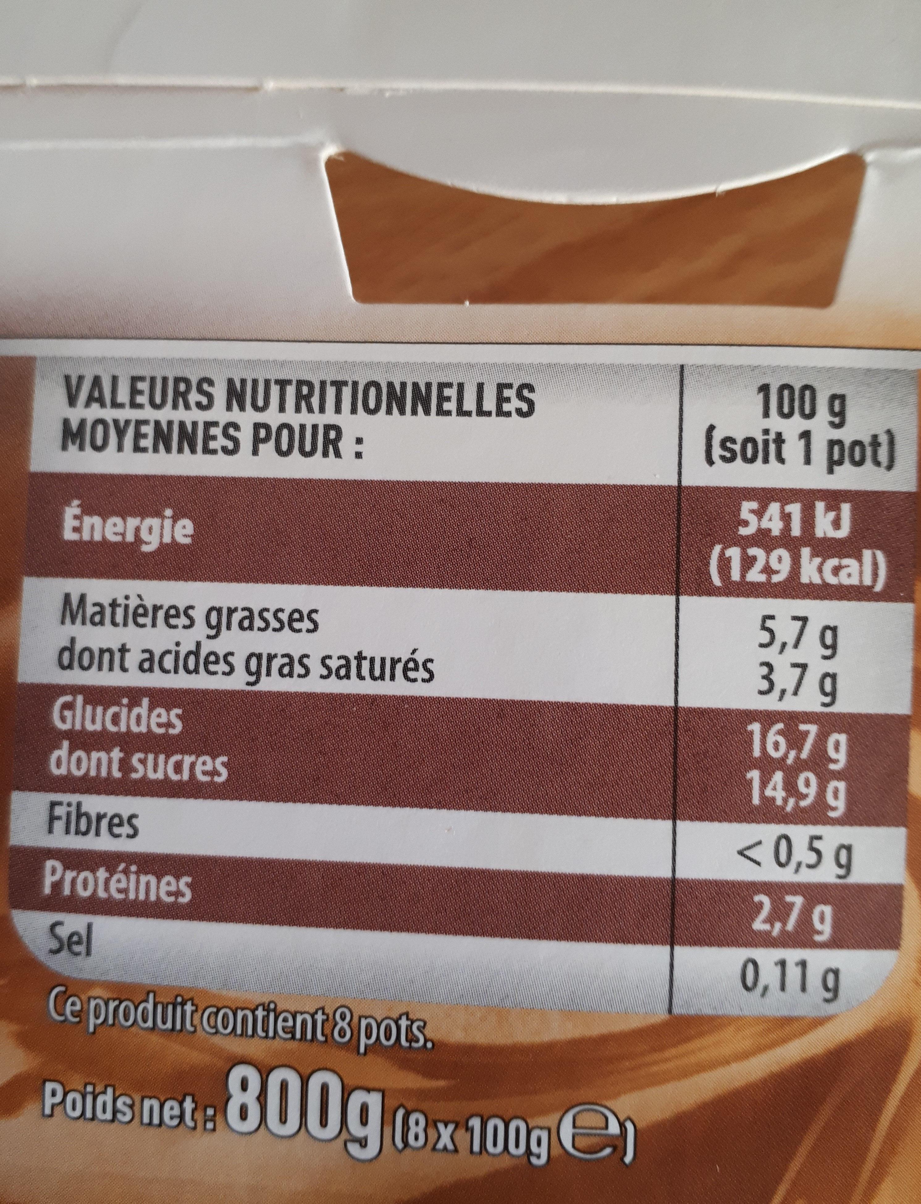 8 Liégeois Pâturages: 4 Chocolat, 4 café - Nutrition facts - fr
