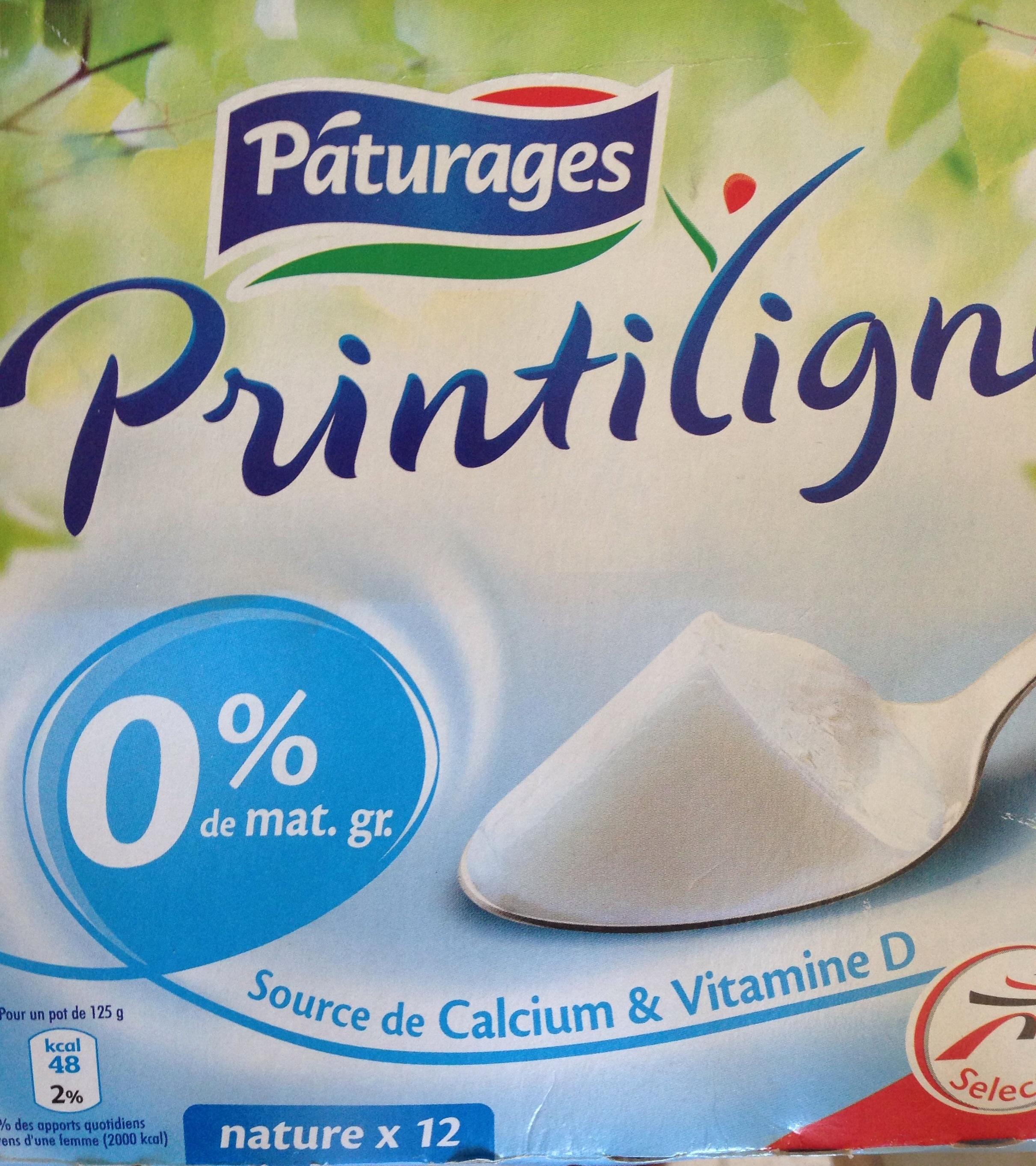 Printiligne nature (0 % MG) 12 pots - Produit - fr