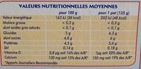 Printiligne nature (0 % MG) 12 pots - Nutrition facts