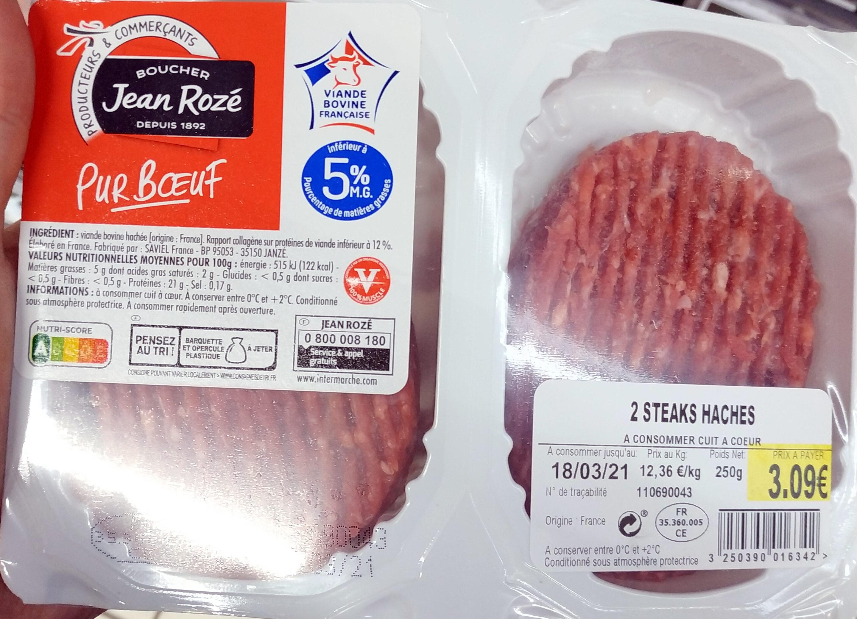 Steaks Hachés 5% MG - Produit - fr
