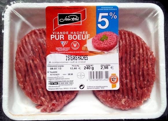 2 Steaks Hachés (5 % MG), Pur Bœuf - Product