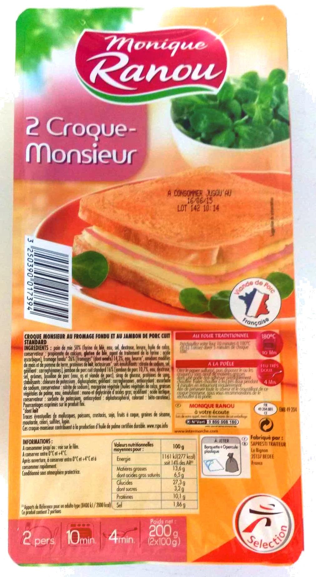 2 croque-monsieur - Produit - fr