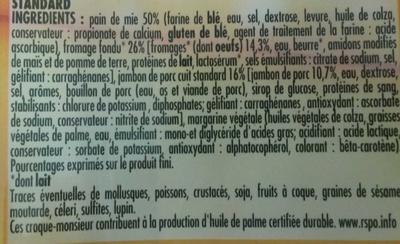 2 croque-monsieur - Ingrédients - fr
