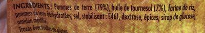 Pom Croquettes 1 kg Bouton d'Or - Ingrediënten