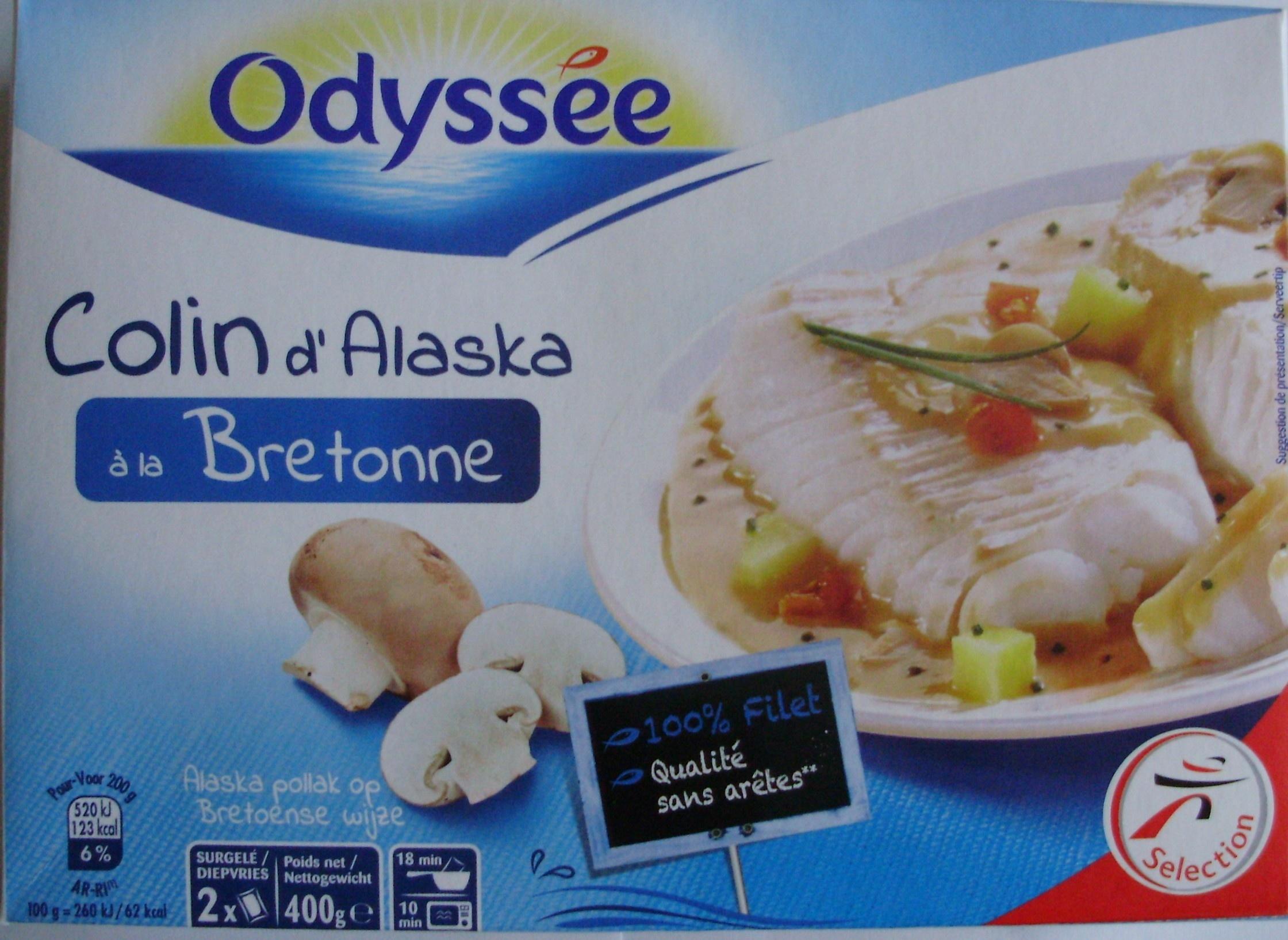 Colin d 39 alaska la bretonne surgel odyss e 400 g - Cuisiner du colin surgele ...