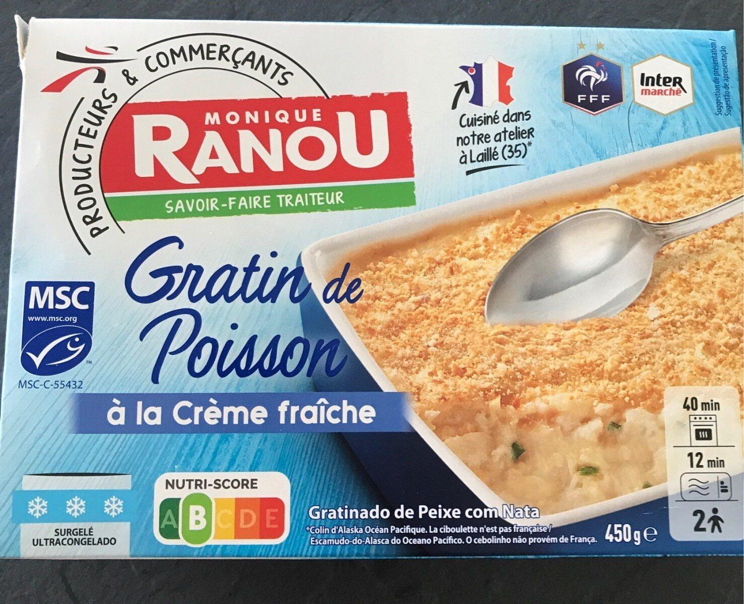 gratin de poisson à la crème fraîche - Informations nutritionnelles - fr