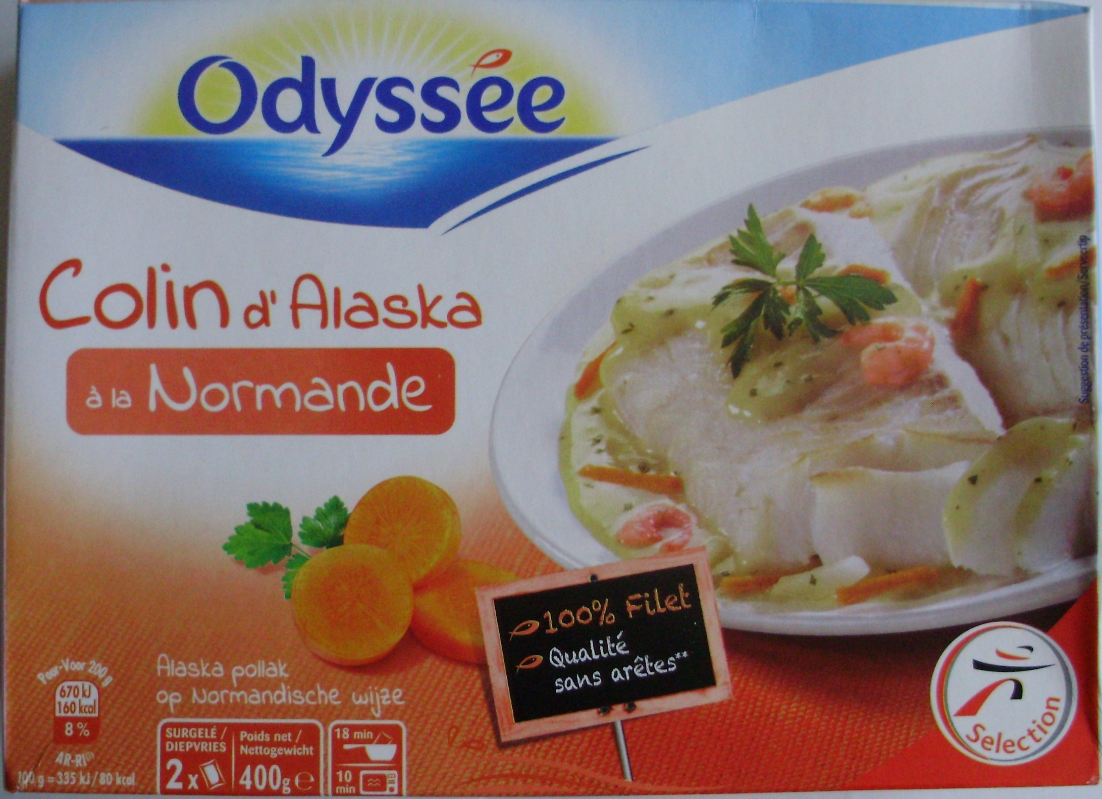Colin d 39 alaska la normande surgel odyss e 400 g - Cuisiner du colin surgele ...