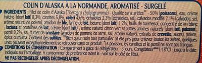 Colin d'Alaska à la Normande, Surgelé - Ingredients - fr