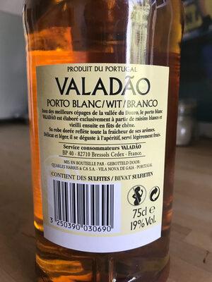 Valadao Porto Blanc 19D - Ingrediënten