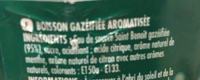 Diabolo Menthe - Ingrédients - fr