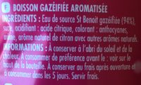 Diabolo Grenadine 1L5 Bouteille - Ingrédients - fr