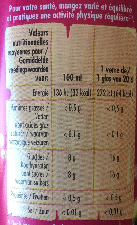Diabolo Grenadine 1L5 Bouteille - Informations nutritionnelles - fr
