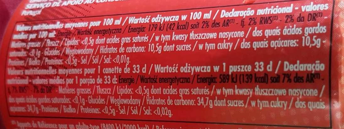 Look Cola - Voedigswaarden
