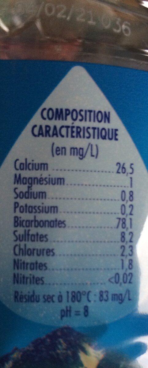 Eau minérale naturelle 1,5L - Ingrédients - fr