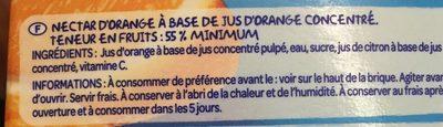 Nectar d'orange avec pulpe - Ingredienti - fr