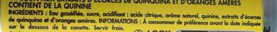 Tonic, Soda Aux Extraits D'écorces De Quinquina Et D'oranges Amères, 6 x 33cl, - Ingrédients - fr