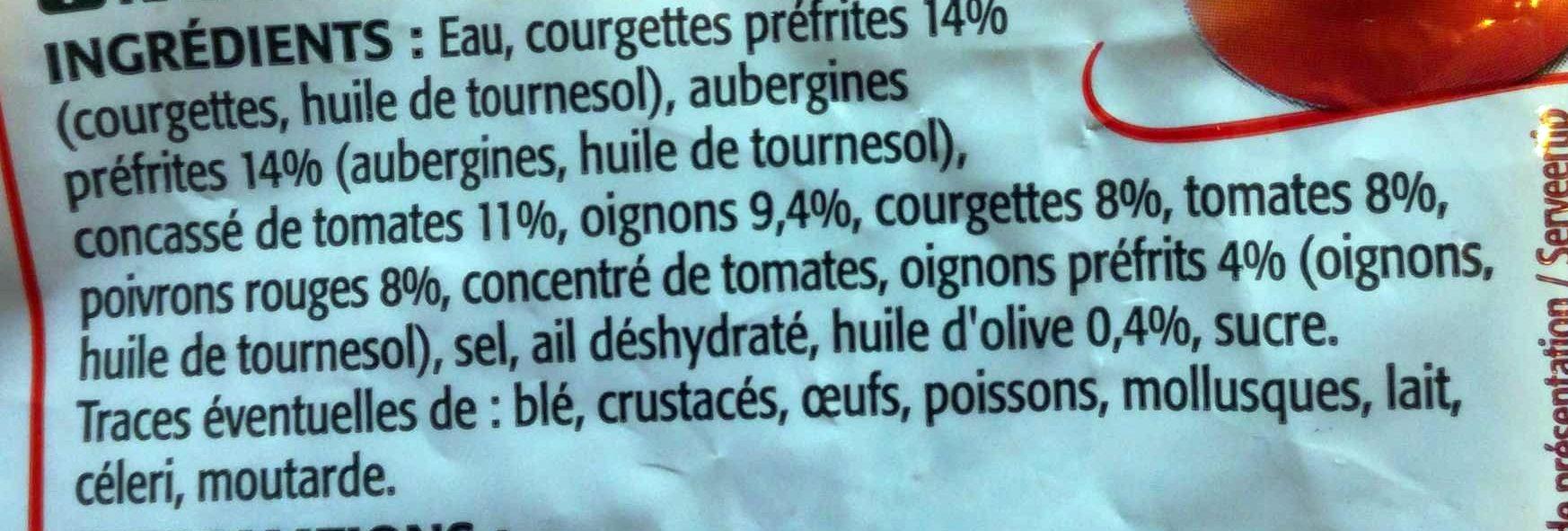 Les cuisinés - Ingrédients - fr