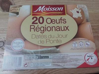 20 œufs régionaux - Product - fr