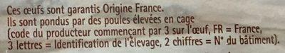 20 œufs régionaux - Ingredients - fr