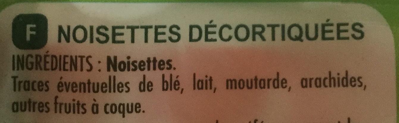 Noisettes décortiquées - Ingrédients - fr
