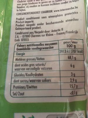 Cerneaux de Noix - Voedingswaarden