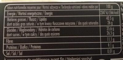 L'envoutant - Informations nutritionnelles - fr