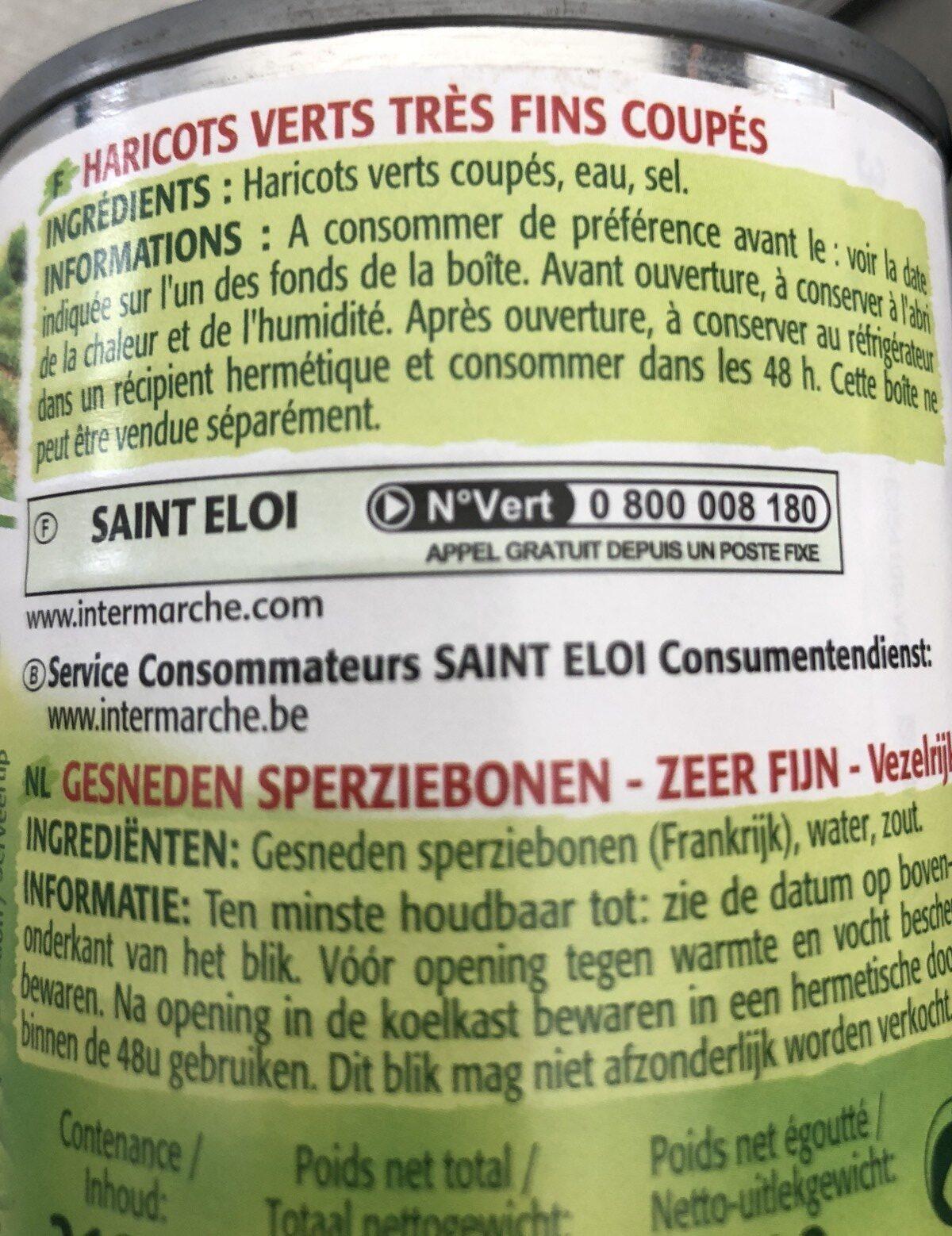 Haricots verts très fins coupés - Ingredients