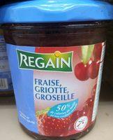 Confiture fraise, griottes, groseilles - Produit - fr