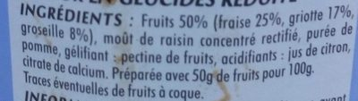 Confiture fraise, griottes, groseilles - Ingrédients - fr