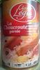 La Choucroute garnie - Cuisinée au Riesling - Produit